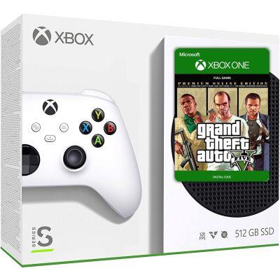 Microsoft Xbox Series S 512Gb + GTA V Premium Edition (русская версия)