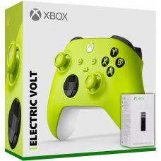 Microsoft Xbox Series X | S Wireless Controller with Bluetooth (Electric Volt) + Адаптер беспроводного геймпада для Windows (Upgrade Version)