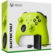 Microsoft Xbox Series X   S Wireless Controller with Bluetooth (Electric Volt) + Play & Charge kit for Xbox Series X and Xbox Series S