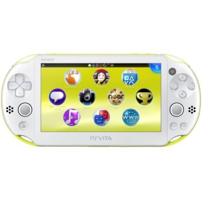 Sony PS Vita Slim 2000 Green Lime/White Wi-Fi + USB кабель +  Мягкий Чехол