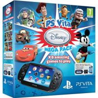 Sony PS Vita Crystal Black Wi-Fi + 3G + Карта Памяти 16Gb + Disney Mega Pack (6 игр) + USB кабель + Чехол