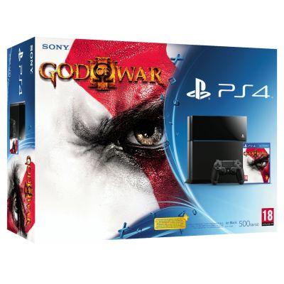 Sony PlayStation 4 500Gb + Игра God of War III Remastered (русская версия)