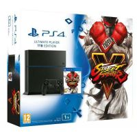 Sony PlayStation 4 Ultimate Player 1Tb Edition + Игра Street Fighter V (русская версия)