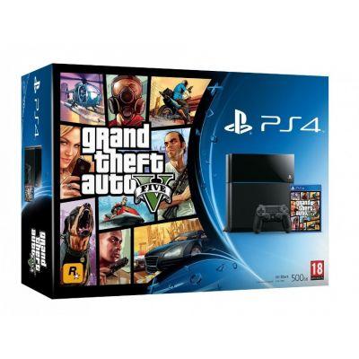 Sony PlayStation 4 500Gb + Игра GTA V (русская версия)