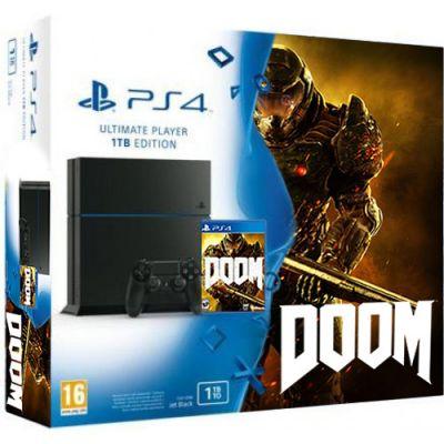 Sony PlayStation 4 1Tb + DOOM (русская версия)
