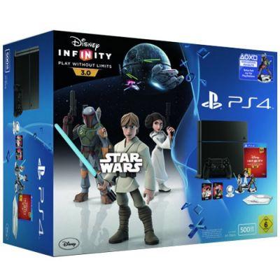 Sony PlayStation 4 500Gb + Игра Disney Infinity 3.0 Star Wars (русская версия)