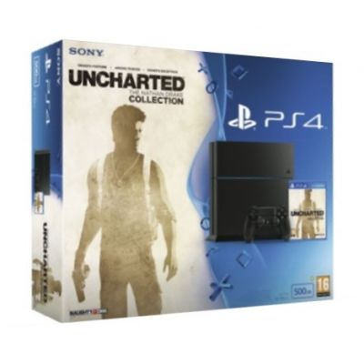 Sony PlayStation 4 500Gb + Игра Uncharted: The Nathan Drake Collection (русская версия)