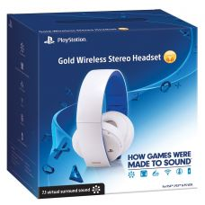 Gold Wireless Stereo Headset (white)