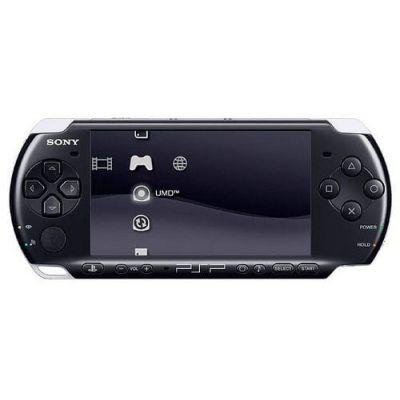 Sony PSP Slim 3000 Piano Black + Чехол + Пленка + USB кабель