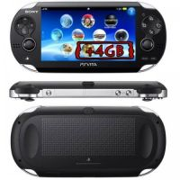 Sony PS Vita Crystal Black Wi-Fi + 3G + Карта Памяти 4Gb + USB кабель + Чехол