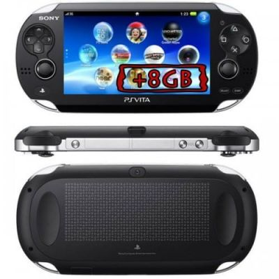 Sony PS Vita Crystal Black Wi-Fi + 3G + Карта Памяти 8Gb + USB кабель + Чехол