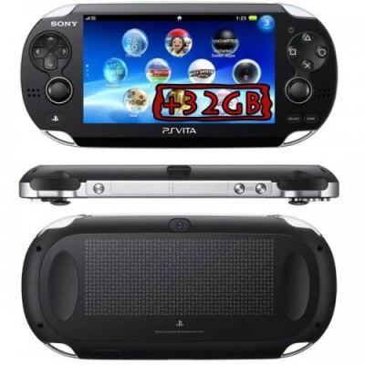 Sony PS Vita Crystal Black Wi-Fi + 3G + Карта Памяти 32Gb + USB кабель + Чехол
