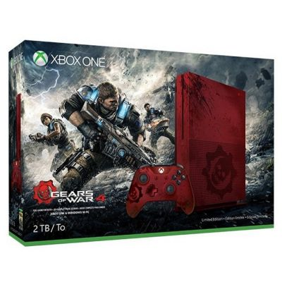 Microsoft Xbox One S 2TB Limited Edition + Gears Of  War 4 (русская версия)