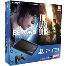Sony PlayStation 3 Super Slim 500Gb    Игра Beyond: Two Souls (За Гранью: Две Души)   The Last Of Us (Одни из Нас)
