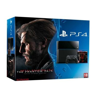 Sony PlayStation 4 500Gb + Игра Metal Gear Solid V: The Phantom Pain (русская версия)