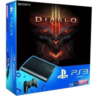 Sony PlayStation 3 Super Slim 500Gb   Игра Diablo III