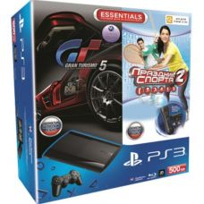 Sony PlayStation 3 Super Slim 500Gb   Move Starter Pack   Игра Праздник Cпорта 2   Игра Gran Turismo 5