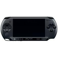 Sony PSP E1000 Street  Piano Black + Чехол + Пленка + USB кабель