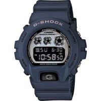 Часы Casio G-Shock DW 6900 HM-2 Vintage Silver Dial Blue Resin