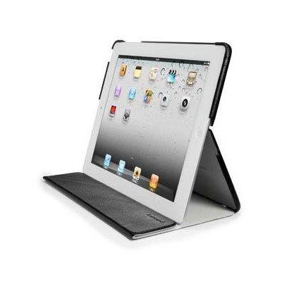 Чехол SGP Leather Case Leinwand Series Black for iPad 2 (SGP07823)