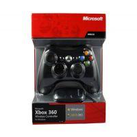 Джойстик беспроводной Wireless Controller Xbox 360 + Ресивер для PC (black)