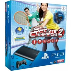 Sony PlayStation 3 Super Slim 500Gb   Move Starter Pack   Игра Праздник Cпорта 2