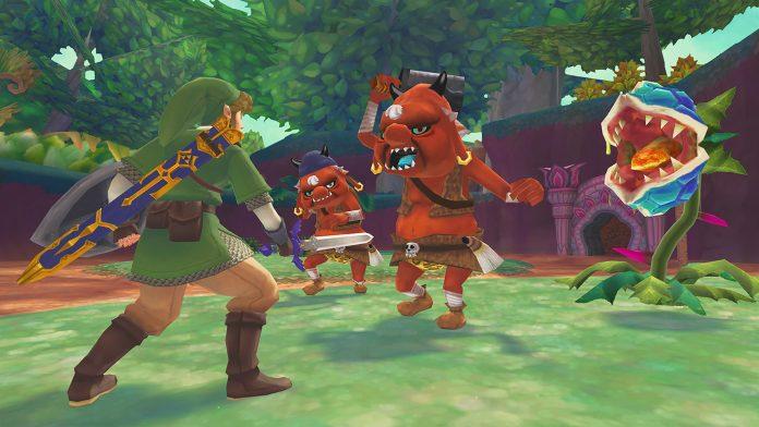 The Legend of Zelda: Skyward Sword HD - взаимодействие с монстрами